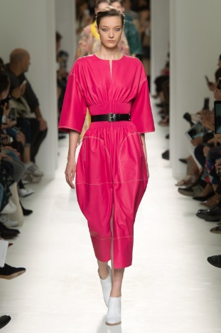 Hermes Vogue pink outfit