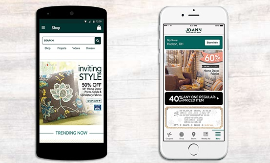 Place an order with Joann app