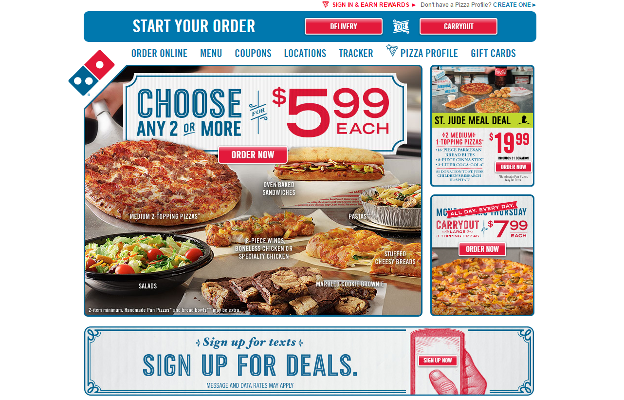 Discount coupons for dominos