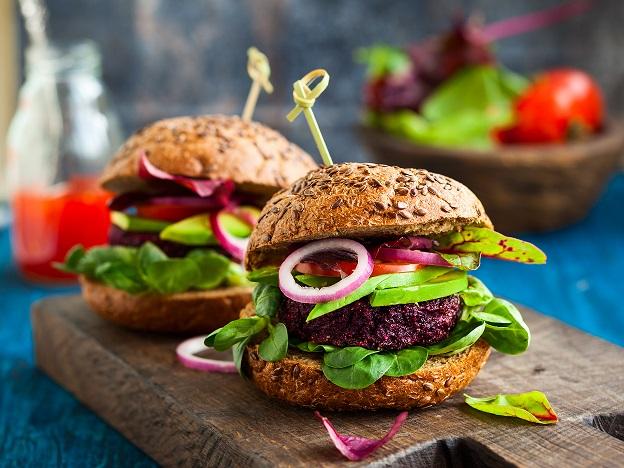 Colorful veggie burger