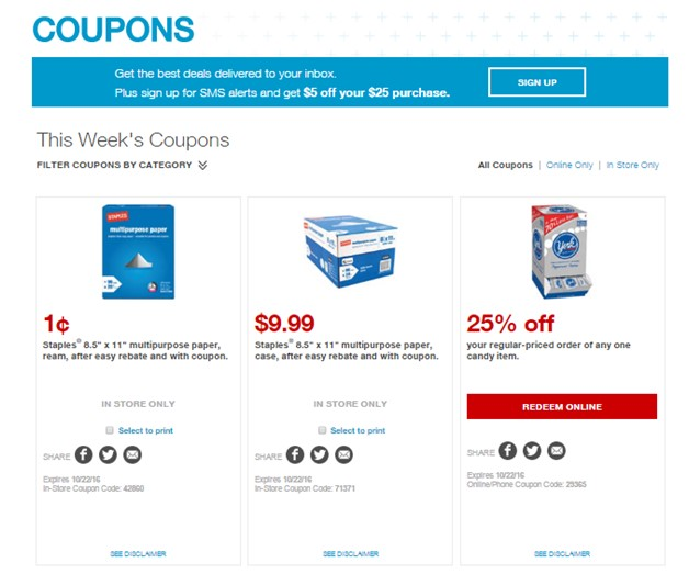 Staples products cheaper with PromoPony coupons