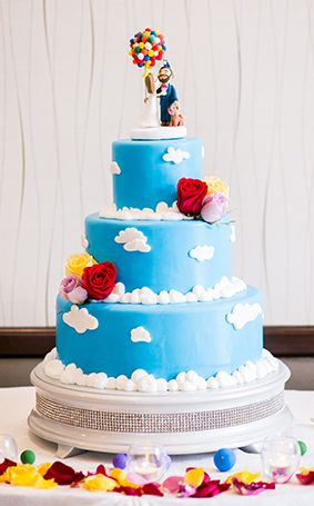 Up Disney wedding cake