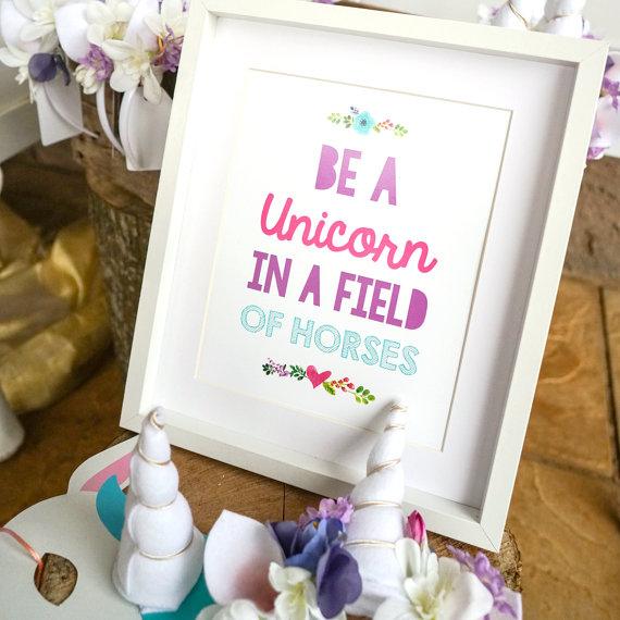 Etsy Unicorn print
