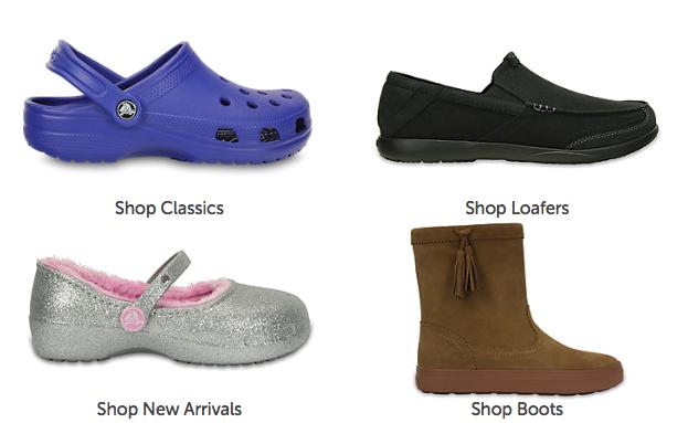 Crocs product variety