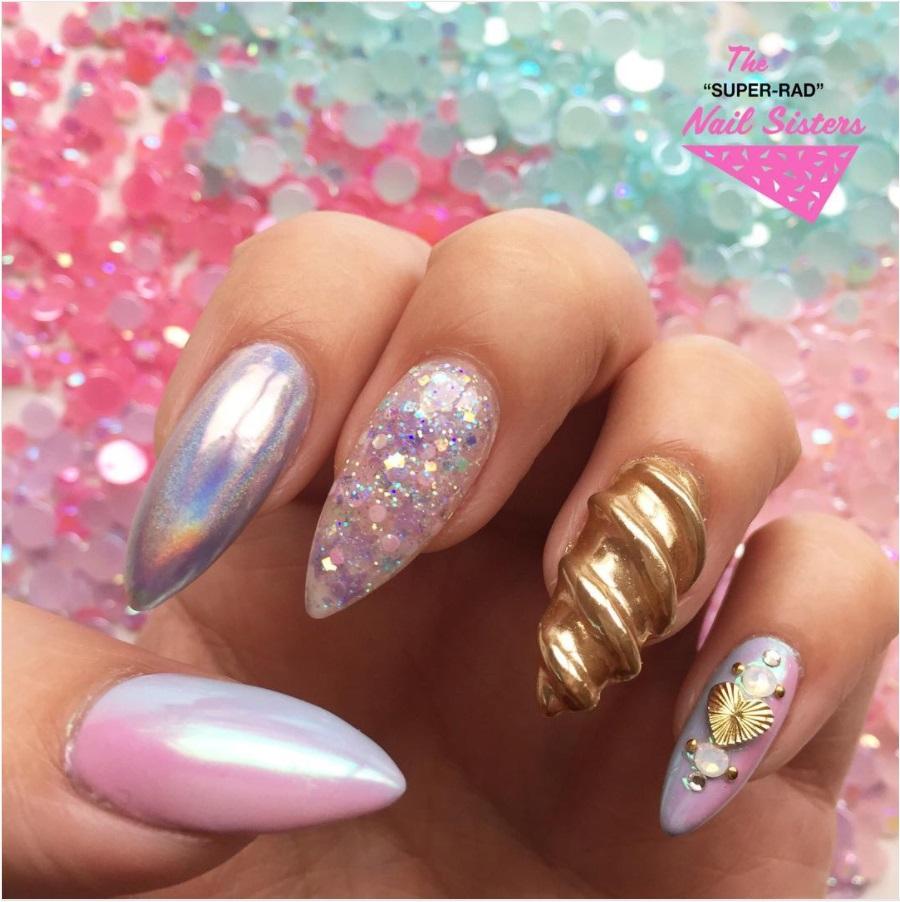 Unicorn nails Instagram